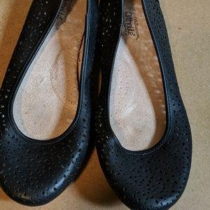 Black Patterned Flats